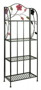 Deco 79 63065 Metal Bakers Rack, 25 By 68-inch