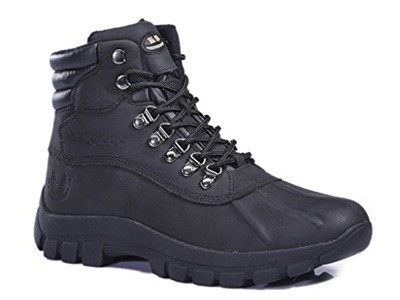 Black Friday KINGSHOW Mens M0705 Water Proof Leather Rubber Sole Winter Snow Boots For 33.88