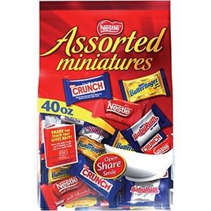 Enjoy The Tasty Nestle Assorted Miniatures Bag, 40 Oz