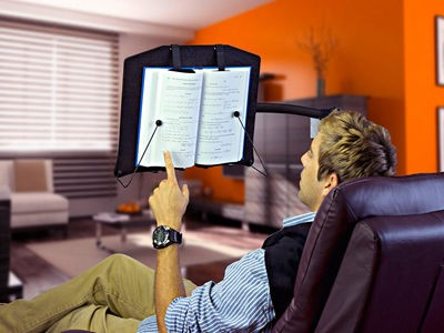 Levo Hands Free Book Stand For Hard Covers, Paperbacks, Cookbooks, Textbooks, Magazines