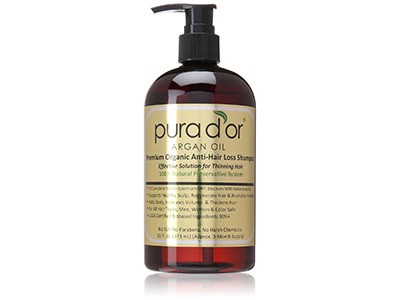 Pura d'or Premium Organic Argan Oil Anti-Hair Loss Shampoo