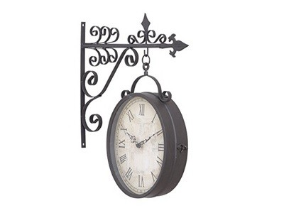 Save 81 Off Deco 79 35414 Metal Outdoor Double Clock 14 By 17Inch